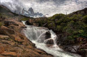 Glacial Melt off Mt. Fitzroy, Argentina